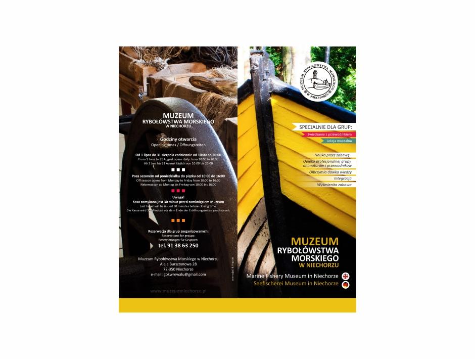 Folder – Muzeum Rybołówstwa Morskiego