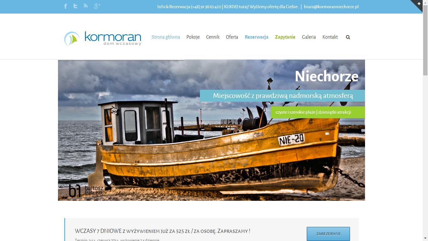 Strona www – KORMORAN Niechorze