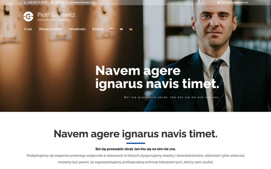 Strona WWW i logotyp – Kancelaria Radcy Prawnego Piotra Gajlewicza