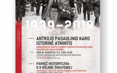Plakat 80 rocznica wybuchu II Wojny Światowej w Wilnie