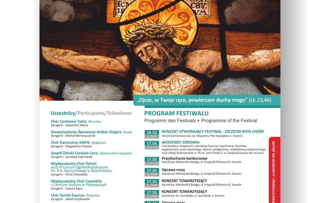 Plakat Międzynarodowy Szczeciński Festiwal Muzyki Pasyjnej