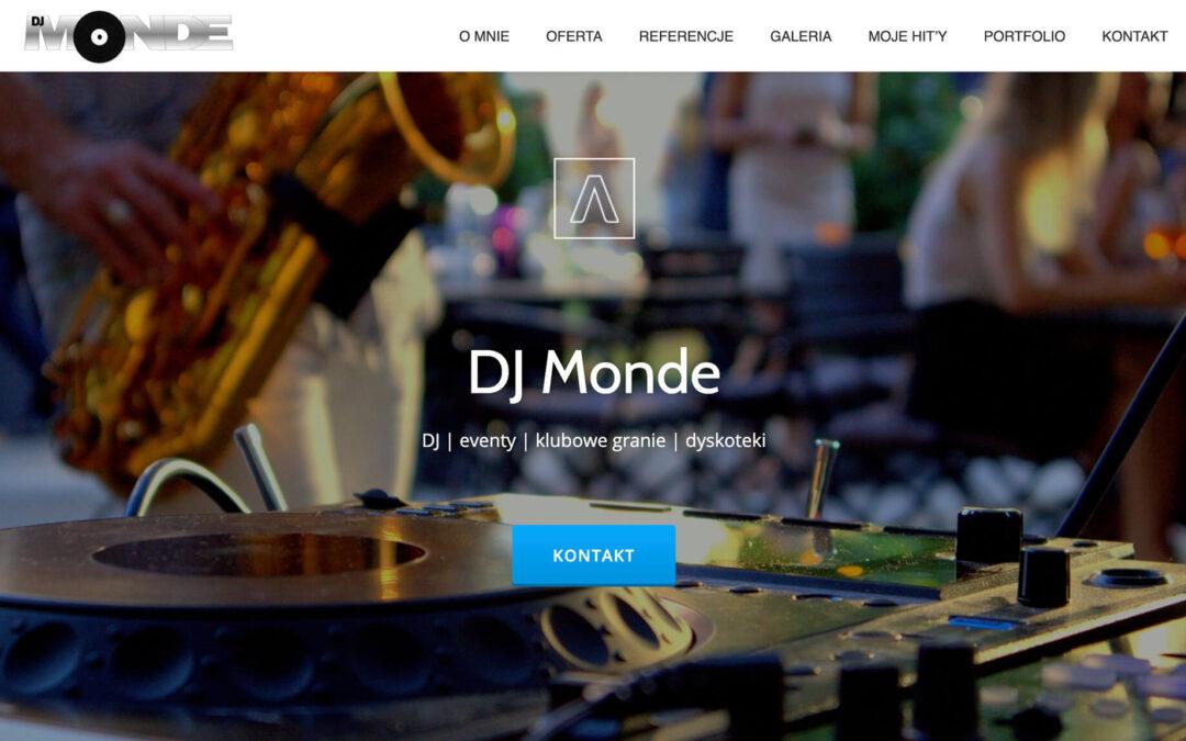 Strona WWW – djmonde.pl